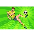 Football has a soccer ball summer sports games vector image