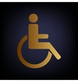 Disabled sign Golden style icon vector image