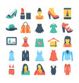 fashion and clothes colored icons 1 vector image