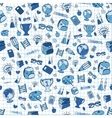 Hand drawn seamless school background vector image