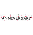happy anniversary banner vector image