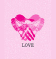 heart shape design vector image