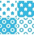 Home patterns set vector image