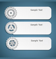 industrial abstract banners set vector image