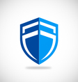 shield blue protection business logo vector image