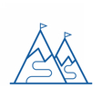 Ski Mountain Icon vector image