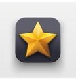 Star icon Symbol of Crown on dark backdrop vector image