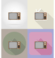 multimedia flat icons 12 vector image vector image