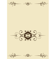 background with flourishes vector image vector image