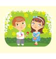 girl boy love date vector image vector image