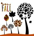 fall trees and leaves vector image