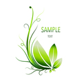 Green leaves abstract background vector image