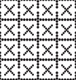a seamless pattern crosses vector image
