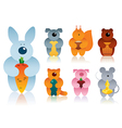 cartoon animals gradient version vector image