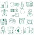 Doodle of business theme hand draw vector image