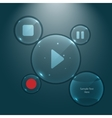Multimedia user interface glass buttons vector image