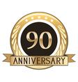 Ninety Year Anniversary Badge vector image