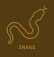 snake logo template vector image