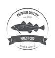 cod fish emblem label vector image