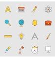 School education flat line icons vector image
