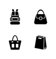 bags simple related icons vector image