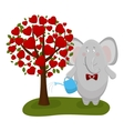 elephant waters a love tree vector image vector image