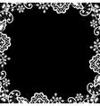 white lace on black background vector image vector image