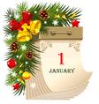 new year tear-off calendar vector image