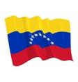 political waving flag of venezuela vector image