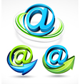 illustrated email and arrows vector image vector image