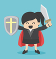 Business Woman holding sword vector image