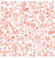 Kids pattern vector image