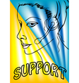 Support phone operator vector image