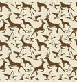 vintage seamless pattern ducks deers vector image