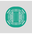 American football stadium birds-eye view icon vector image
