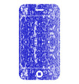 mobile phone textured icon vector image