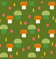 acorn pattern with mushrooms background for web vector image