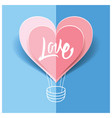love card origami for the wedding for valentine vector image