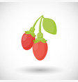 Goji berries flat icon vector image