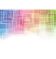 Modernistic square abstraction template vector image