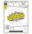 Series comics speech bubble vector image