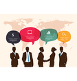 Business meeting with speech bubble infographic vector image