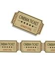 Old cinema tickets vector image