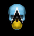 Saint lucian flag skull vector image
