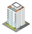 Dwelling house isometric icon set vector image