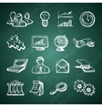Infographic chalkboard icons vector image
