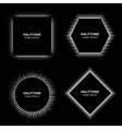 Set of White Abstract Halftone Circles vector image