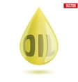 Shiny olive oil drop isolated on white background vector image