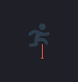 Steeplechase computer symbol vector image