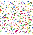 Vibrant seamless pattern of falling confetti vector image